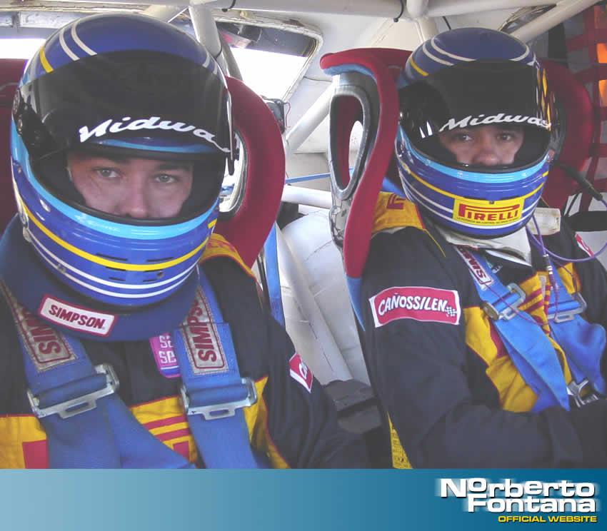Aquí estoy con mi copiloto de TC, Gastón Duzac, en Olavarría - Norberto Fontana F1